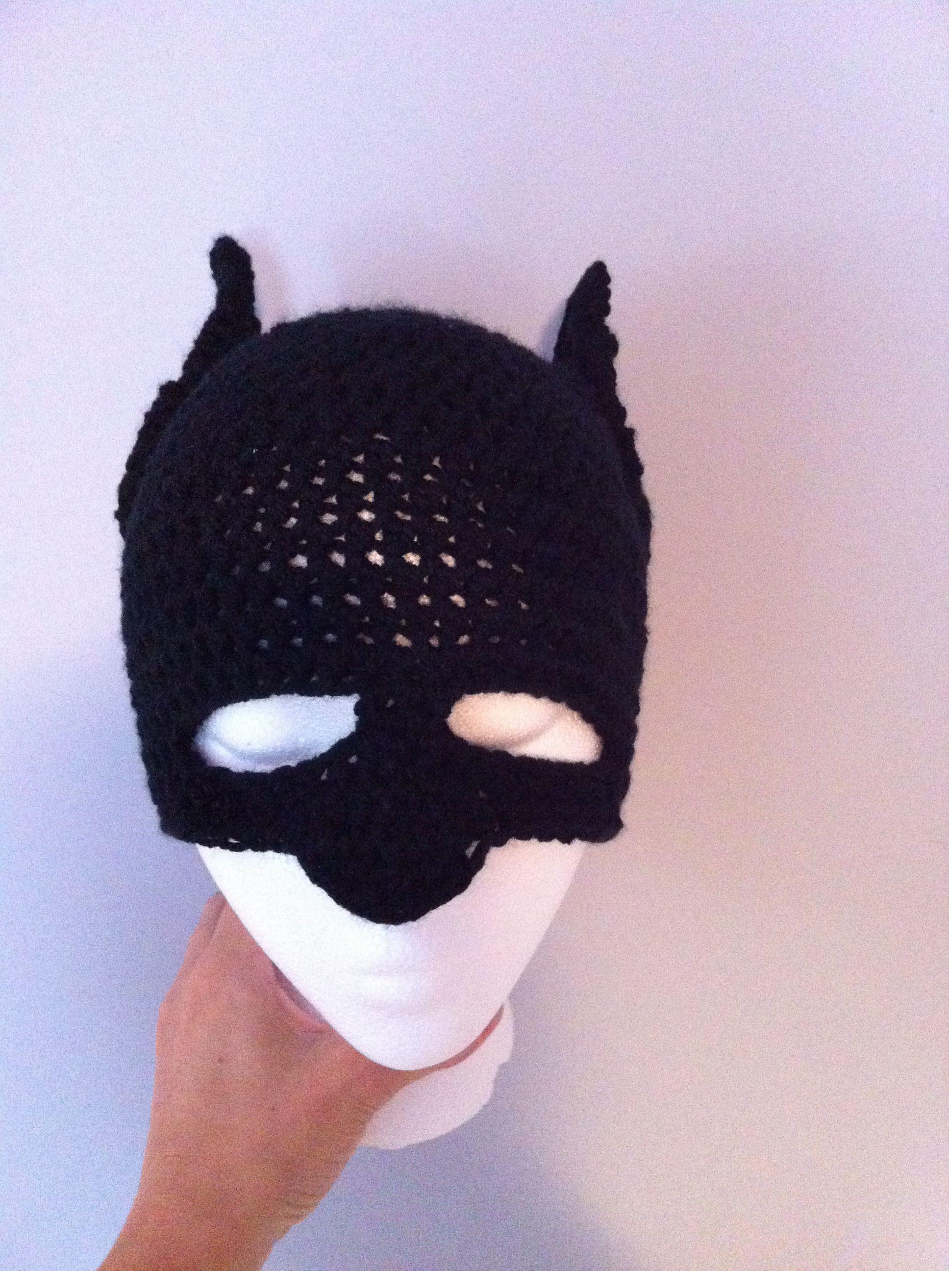 Batman Mask Crochet Hat Corochet Patterns Pinterest