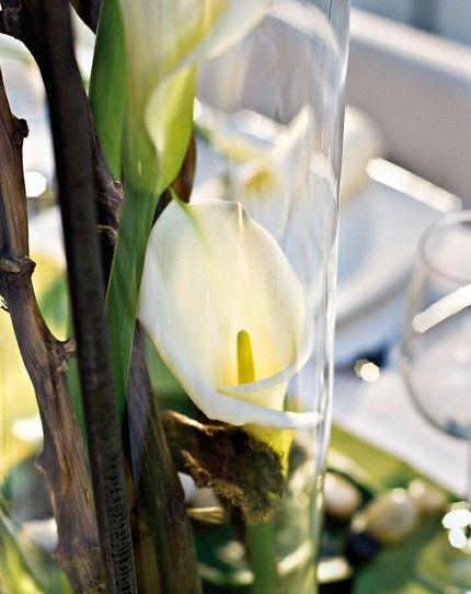 Tischdekoration Mit Calla Kommunion Pinterest