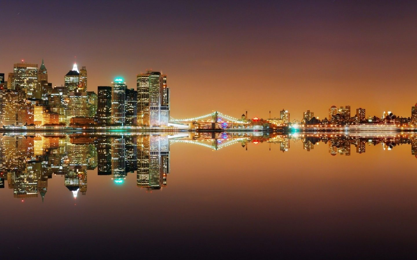 New York City Lights Beautiful Desktop Wallpaper In Fullscreen
