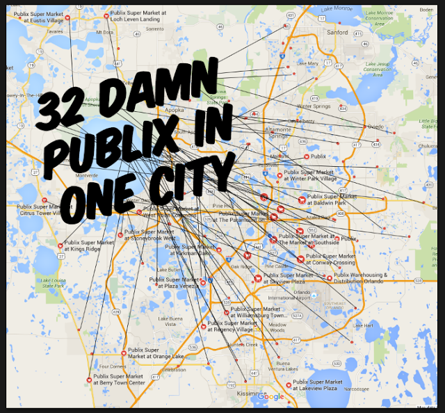 THE DAILY CITY: 32 Publix Locations in Orlando Alone  Damn