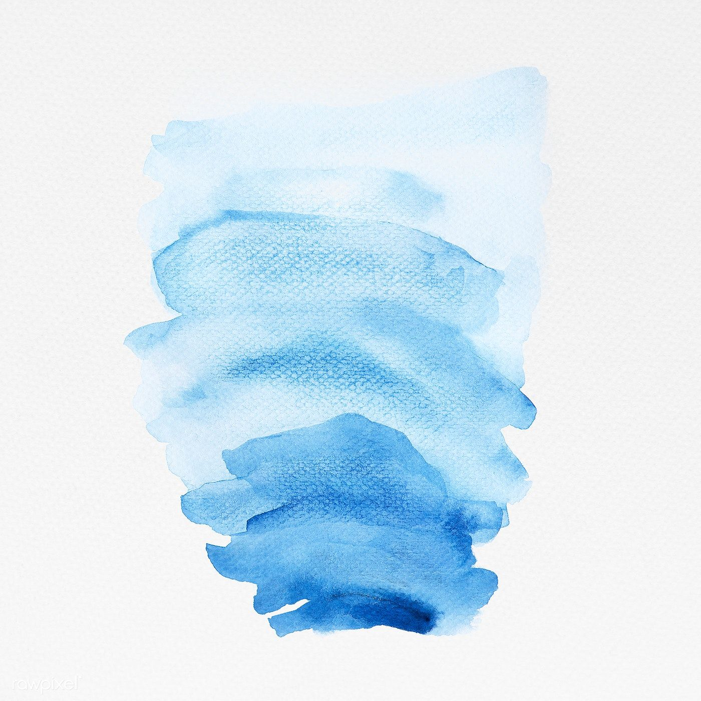 Shades Of Blue Watercolor Brush Strokes Illustration Free Image