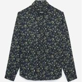 The Kooples – Floral print midnight blue loose fit shirt – Damenthekooples.com …