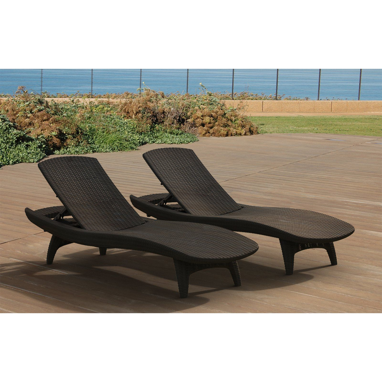 Keter outdoor chaise lounge set of 2 605 84 hayneedle