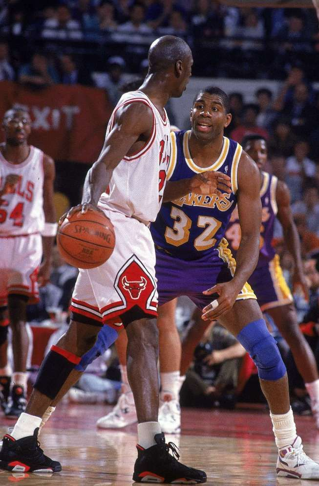 40bd49642d9 Michael Jordan vs Magic Johnson | Sports x-tor | Sports, Sports ...