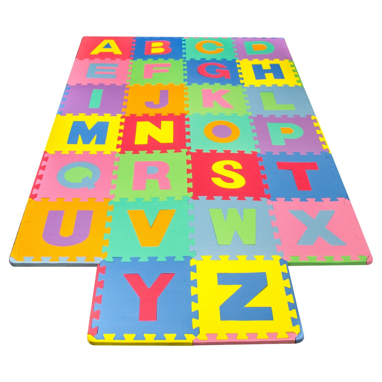 The Sorbus Matney Alphabet Foam Play Mat With 26 Tile Puzzle Pieces Makes A Great Surface Beneath Your Child During P Kids Foam Floor Puzzle Mat Foam Flooring