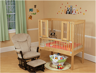 Kayserbetten Hannah Safety Bed With Extra Tall Railing Safety Bed Cribs Bed