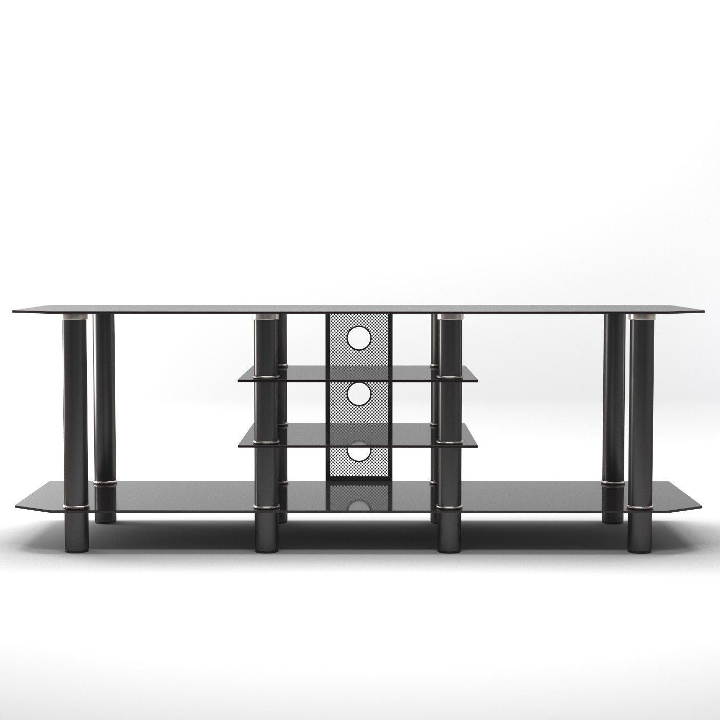 Salerno Tv Stand Glass Tv Stand Black Glass Tv Stand Tv Stand