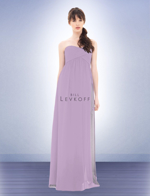 Bill levkoff bridesmaid dress style violet wedding