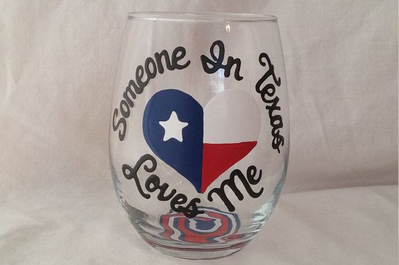 Hey, I found this really awesome Etsy listing at https://www.etsy.com/listing/287610855/someone-in-texas-loves-me-hand-painted