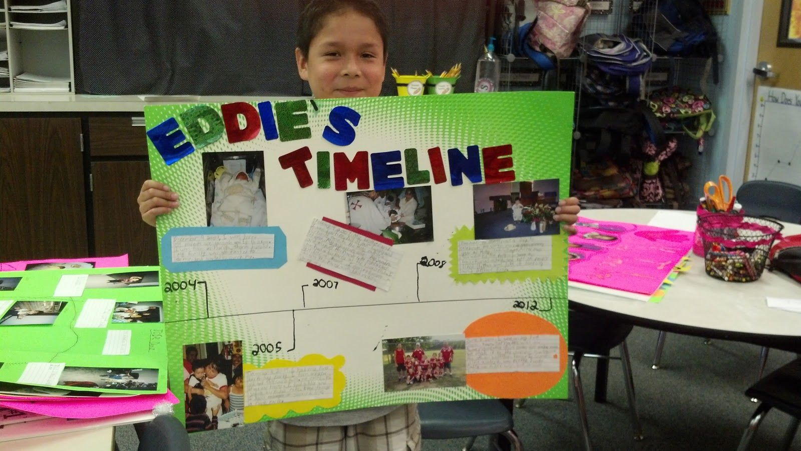The students have been working very hard on their home timeline ...