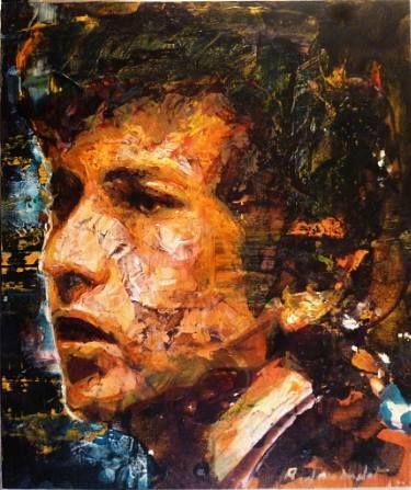 Bob Dylan No Direction Home Painting Peinture Visage Remi