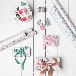 Photo of Wrapping paper tree decorations [ 70 cm x 2 m ] | Rico Design – green – sewing accessories Christmas balls planting