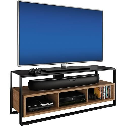 Bdi Sonda A V Stand For Flat Panel Tvs Up To 60 Walnut Mood