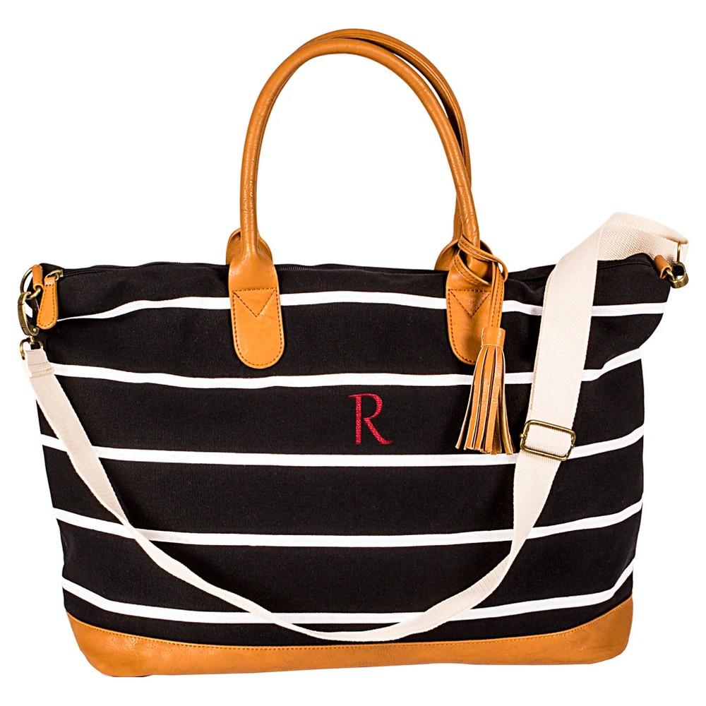 Cathy's Concepts Women's Monogram Weekender Bag - Black Stripe