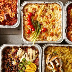 A variety of casseroles for meal train