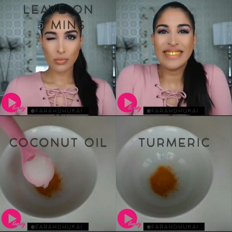 turmeric coconut oil for teeth whitening homemade remedies by farah dhukai diy beauty in. Black Bedroom Furniture Sets. Home Design Ideas