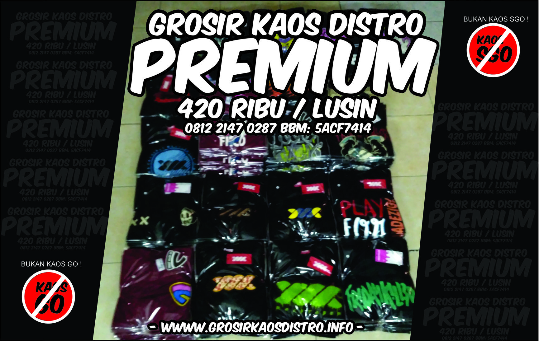 Grosir Kaos Distro Premium Original Idr 420 Lusin Cotton Combed 30s Grosis Plastisol Bandung Discharge Overdeck