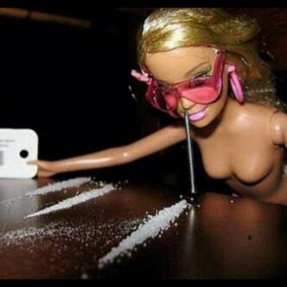 Barbie and cocaine.