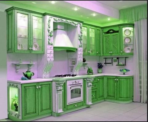 A Green Tea Influenced Kitchen Think Matcha Green Kitchen Decor Kitchen Interior Design Modern Kitchen Cabinet Remodel