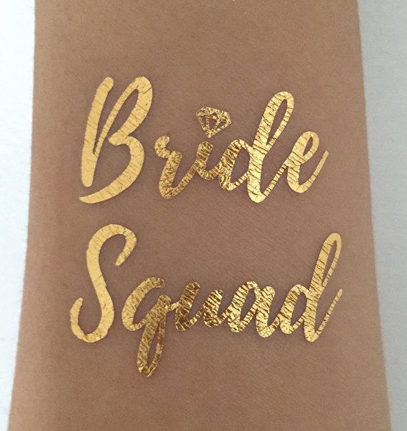 Metallic Gold Bachelorette Tattoos Party Favors