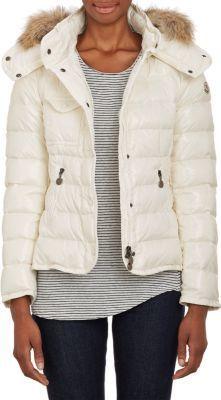 16b4c34e0 Moncler Fur-Trim Armoise Hooded Down Jacket