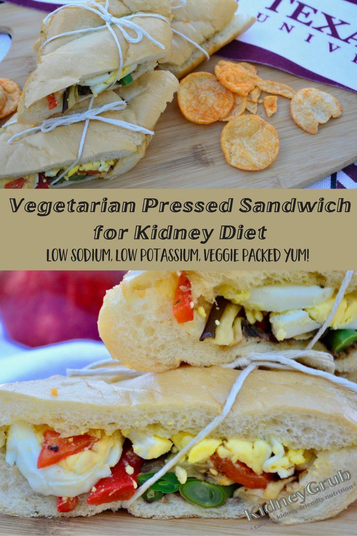 Pressed Vegetarian Picnic Sandwich