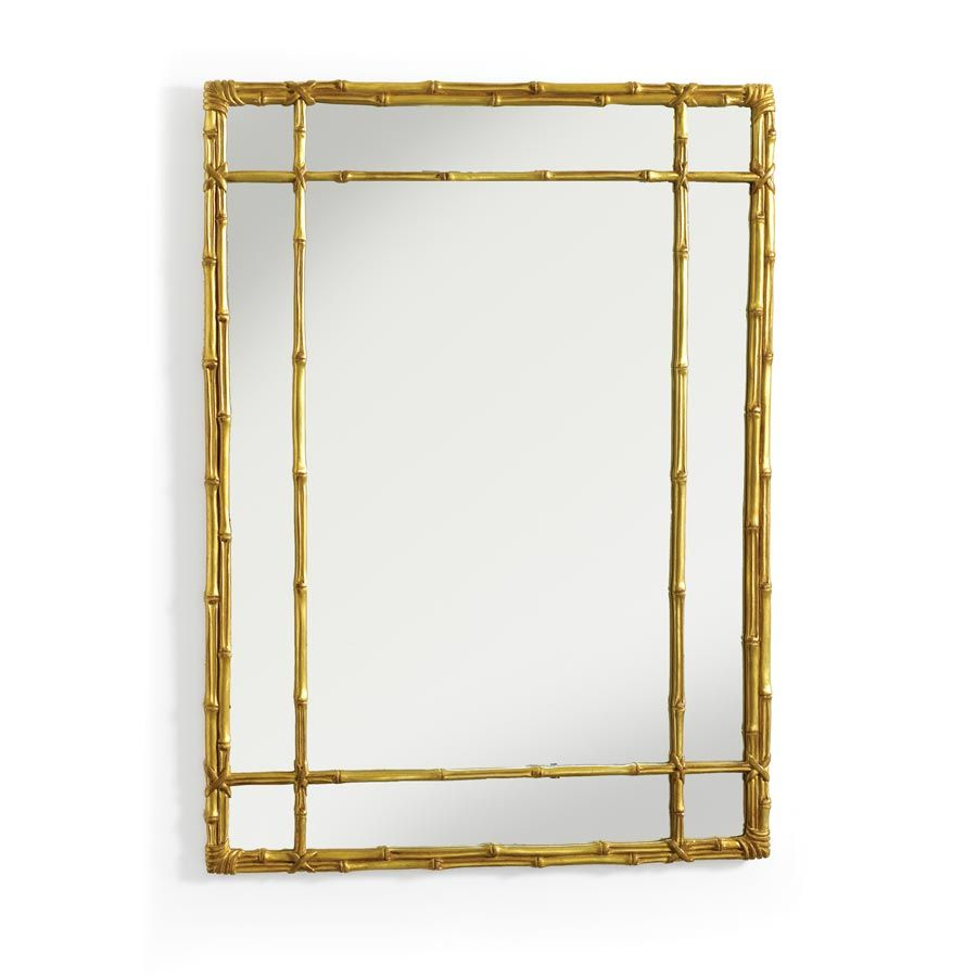 Classic Lashed Bamboo Mirror Ant.Gold | Mirrors | Home Decor ...