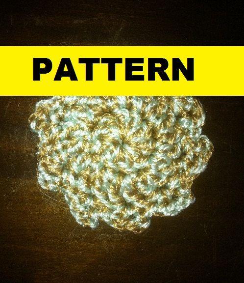 crochet pot scrubber patterns | Crochet Pattern / Flower / NYLON POT ...