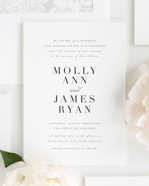 Large Non Script Names Wedding Invitations