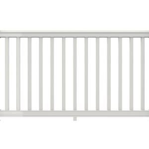 Veranda Premier Series 6 Ft X 42 In White Polycomposite Rail Kit With Square Balusters 73012454 Vinyl Railing Metal Deck Railing White Vinyl