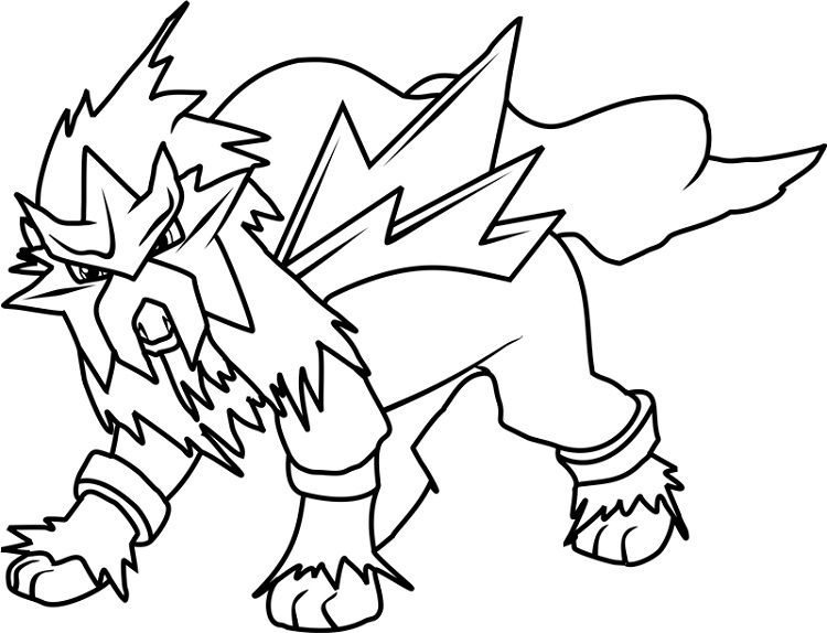 Pokemon Coloring Pages Entei Prinzewilson Com Pokemon Coloring