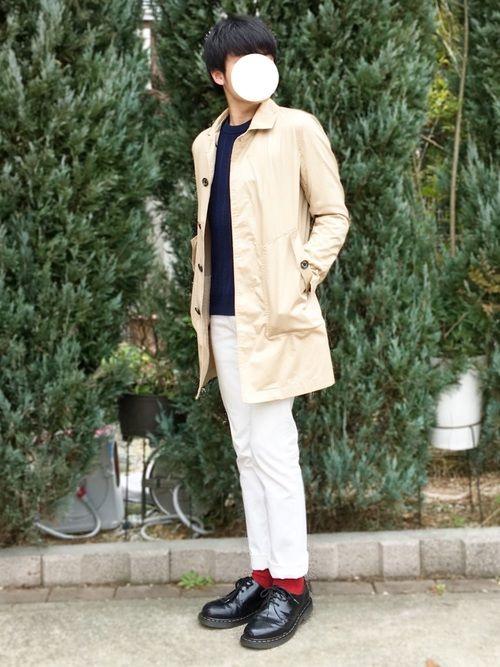 pon|B:MING LIFE STORE by BEAMSのステンカラーコートを使ったコーディネート - WEAR