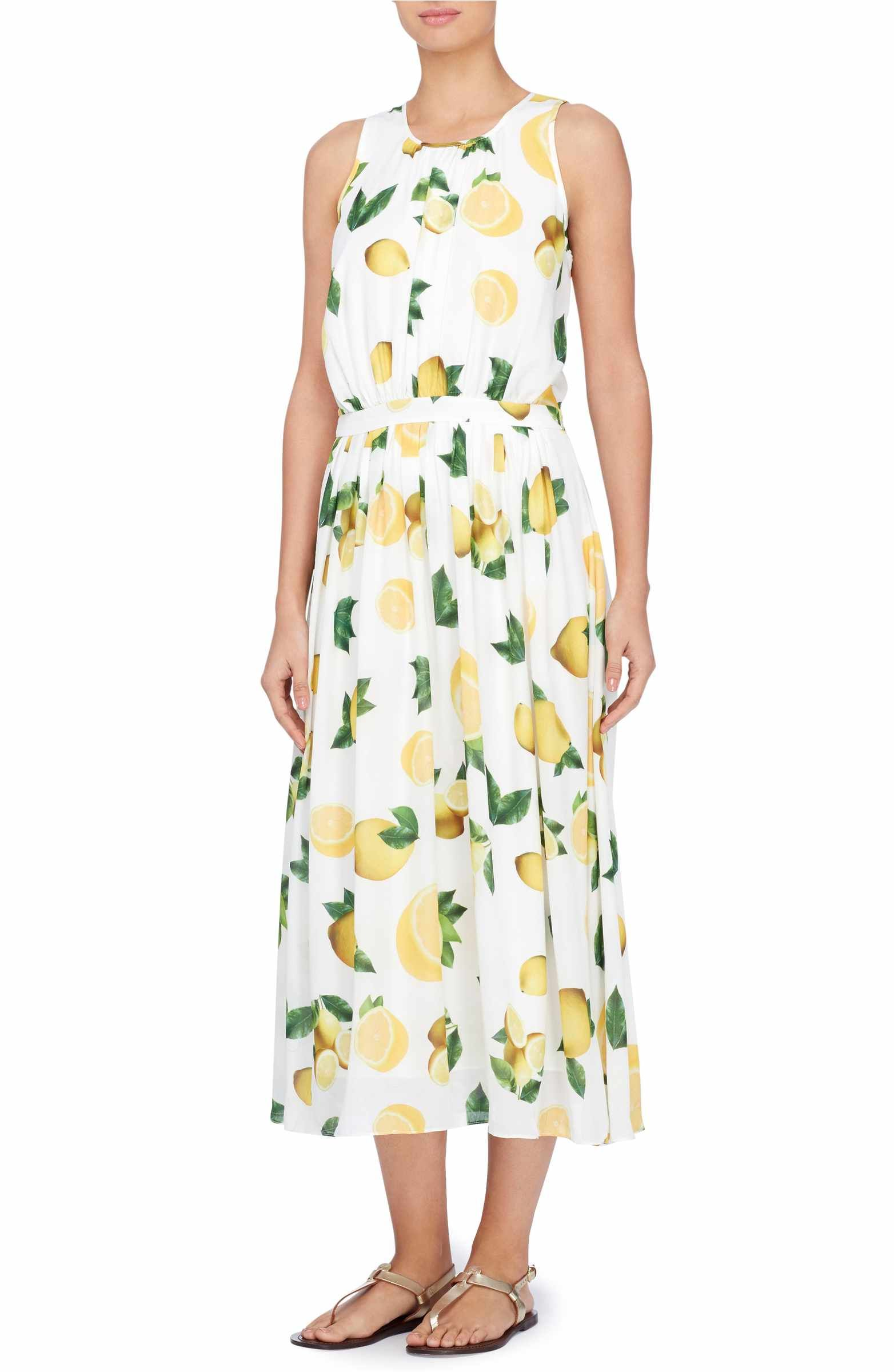 Catherine Malandrino Women/'s Alfie Printed Midi Dress