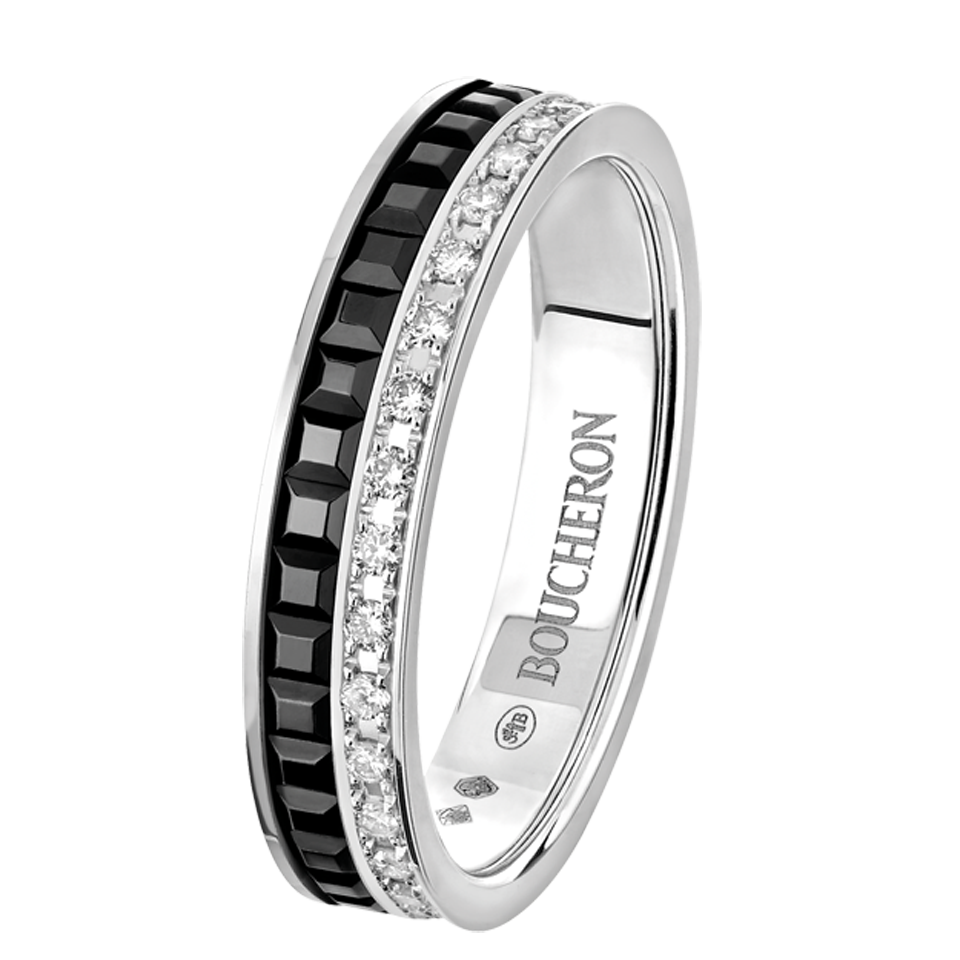 d57bc95b8468 Quatre Black Edition Wedding band, a Maison Boucheron Jewelry creation. A  Boucheron creation tells a Story, that of the Maison and your own.