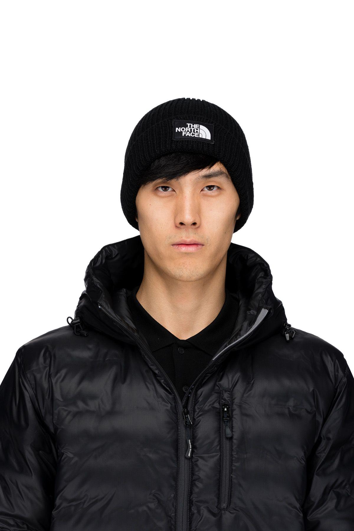 The North Face - Logo Box Cuffed Beanie - Black  e23f2cc5d71e