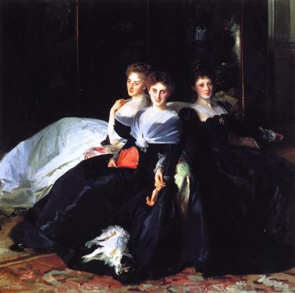 The Misses Hunter, 1902 by John Singer Sargent. Realism. portrait. Tate Britain, London, UK