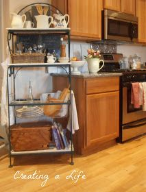 Creating A Life: Kitchen Rack From Found Elements