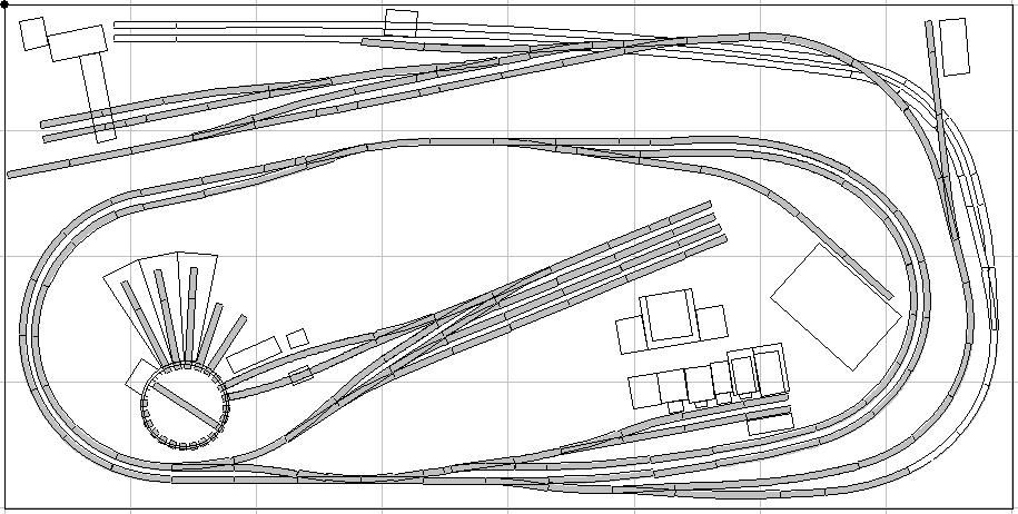 4 by 8 n scale track plans