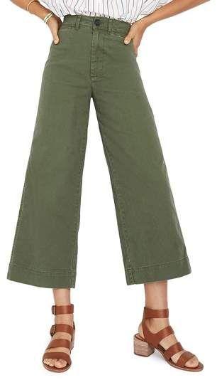 b534bf33a63 Madewell Emmett Crop Wide Leg Pants