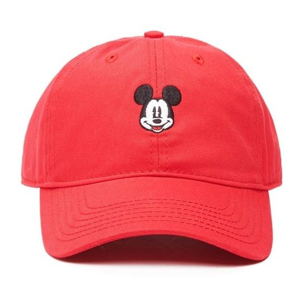 7dbc9fb8242 Forever 21 Women s Mickey Mouse Baseball Cap ( 11) ❤ liked on Polyvore  featuring accessories