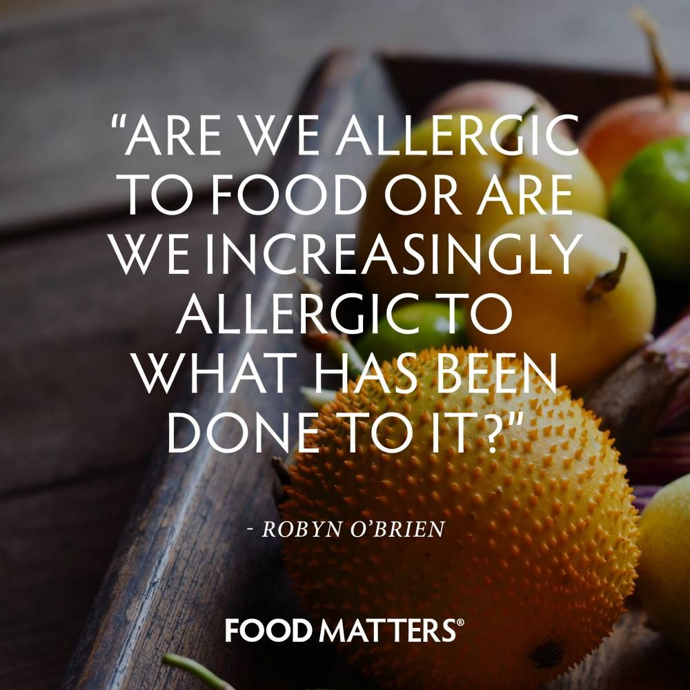 Are we allergic to food or are we increasingly allergic to