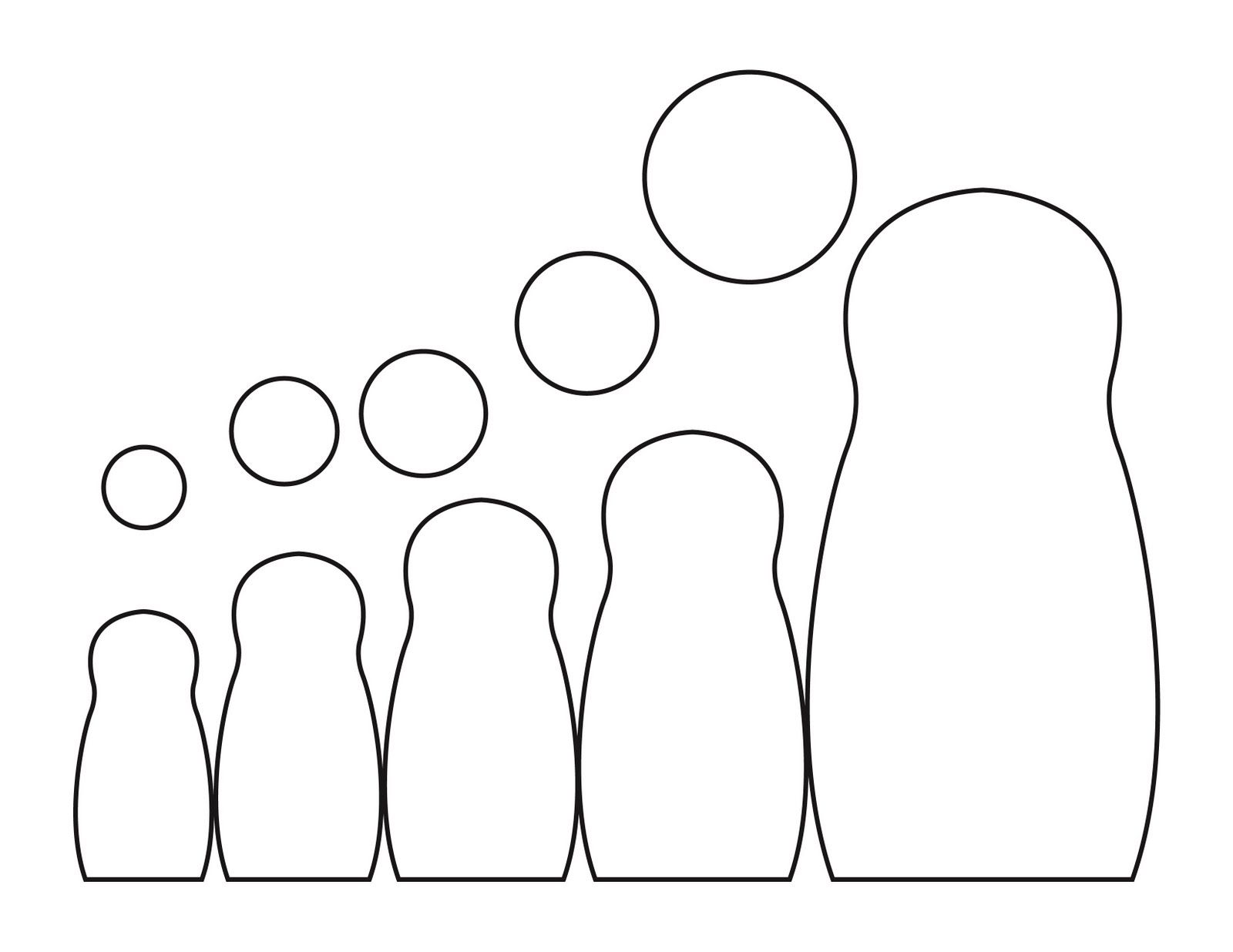 nesting doll template...would be cute to make nesting dolls out of ...