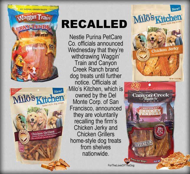 Chicken Jerky Treats Recalled Nestle Purina Petcare Co