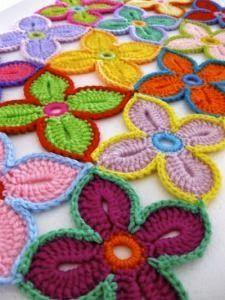 Tejido Facil: Idea: camino de flores en crochet