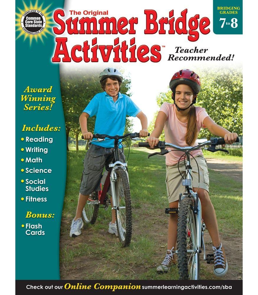 Summer Bridge Activities® Workbook Grade 7-8 Paperback ...