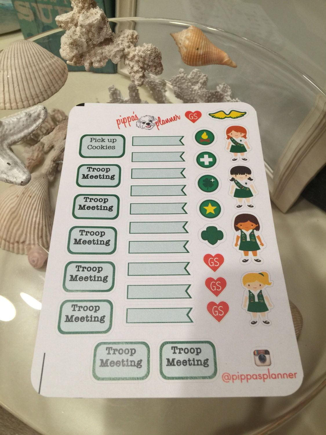 Girl Scout Planner Stickers