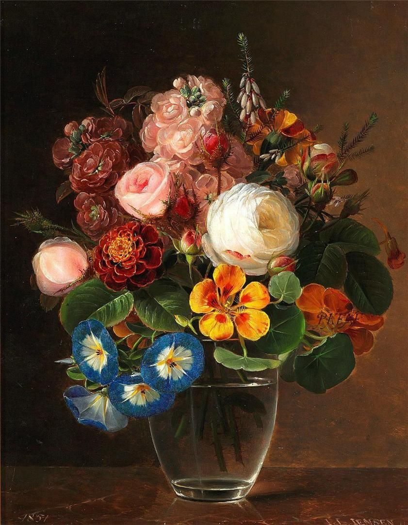 Johan Laurentz Jensen Floral Art Paintings Flower Art Floral Art