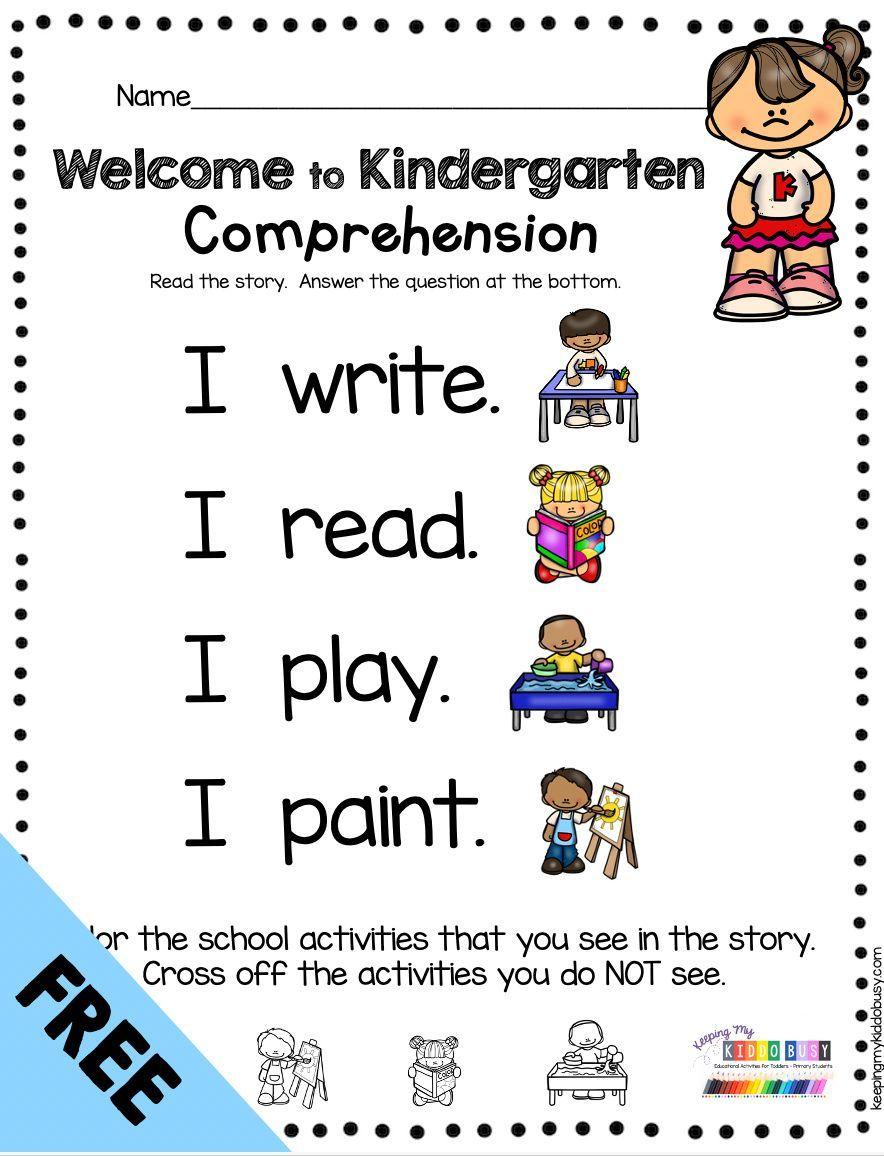 Reading And Writing Back To School In Kindergarten Free Week Keeping My Kiddo Busy Sentences Kindergarten Teaching Writing Guided Reading Kindergarten [ 1156 x 884 Pixel ]
