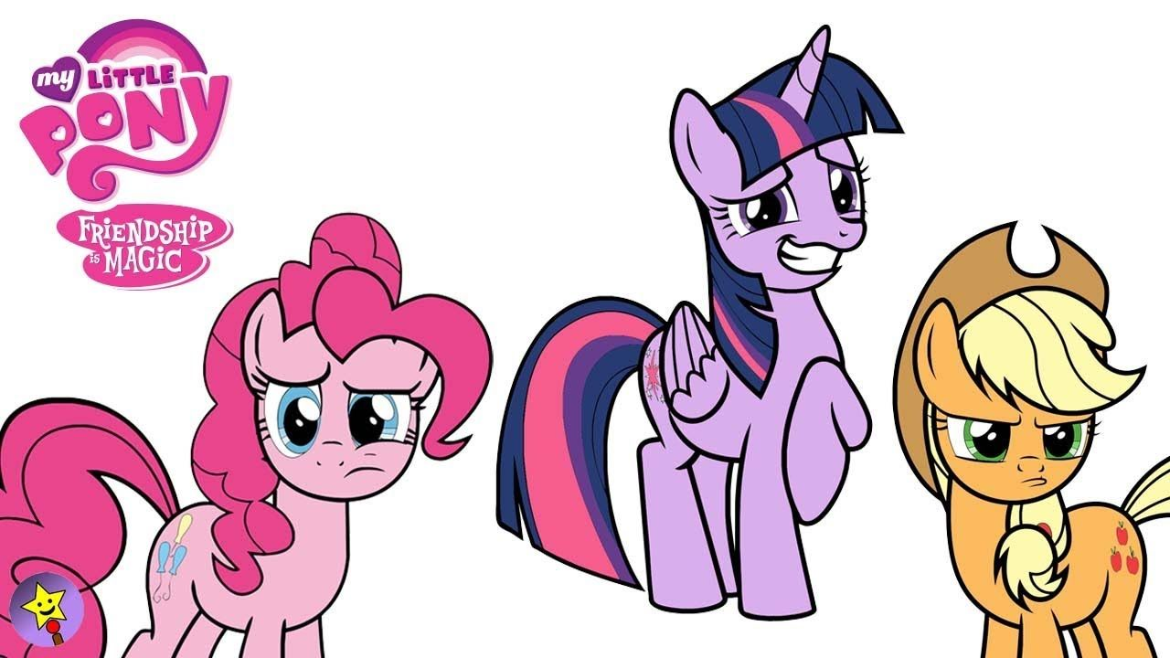 A Compilation Of My Little Pony Coloring Page Videos Twilight Sparkle Coloring Book Page Applejack Color My Little Pony Coloring Happy Magic Mlp My Little Pony