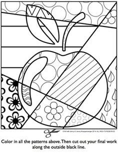 art coloring page. Apple pop art coloring page PDF BACK TO SCHOOL INTERACTIVE COLORING SHEET FREEBIE